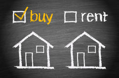Compri una casa fotografia stock