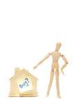 Compri una casa con priorità bassa bianca fotografia stock