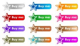 Comprimi bottoni Fotografia Stock Libera da Diritti