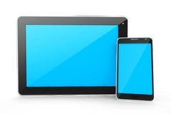 Comprimé de dispositifs de Digital et téléphone intelligent Image libre de droits