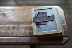 Comprimé de vieille école Photographie stock libre de droits