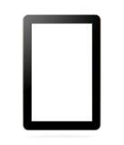 Comprimé noir avec l'écran vide images stock