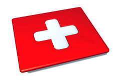 Comprimé suisse de drapeau Image libre de droits