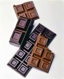 Comprimés assortis de chocolat Image libre de droits