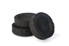 Comprimés de charbon de bois Image stock
