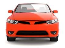Comprima la vista frontale dell'automobile rossa Fotografie Stock