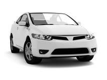 Comprima o carro branco Imagens de Stock Royalty Free