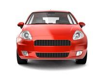 Comprima a opinião dianteira do carro vermelho Imagens de Stock