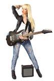 Comprimento cheio da estrela do rock fêmea do punk Imagem de Stock