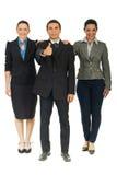 Comprimento cheio de executivos unidos Imagem de Stock