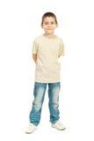 Comprimento cheio do menino da criança fotografia de stock royalty free