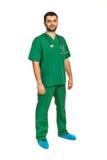 Comprimento completo do homem do cirurgião imagens de stock
