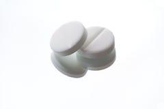 Comprimido branco Fotografia de Stock