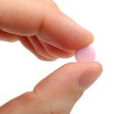 Comprimido cor-de-rosa Imagens de Stock