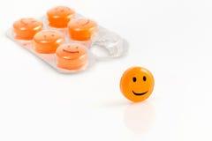 Comprimido do sorriso de Dayli Fotos de Stock