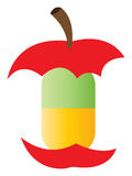 Comprimido natural da vitamina - Apple Foto de Stock Royalty Free