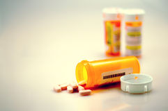 Comprimidos 02 da prescrição Fotografia de Stock Royalty Free
