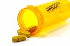 Comprimidos amarelos Foto de Stock Royalty Free