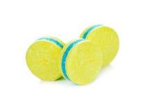 Comprimidos amarelos Fotos de Stock Royalty Free