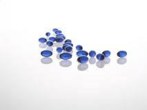 Comprimidos azuis do gel Fotos de Stock Royalty Free