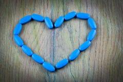 Comprimidos azuis genéricos de Viagra Imagem de Stock Royalty Free