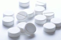 Comprimidos brancos Fotografia de Stock Royalty Free