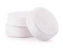 Comprimidos brancos isolados Fotografia de Stock Royalty Free