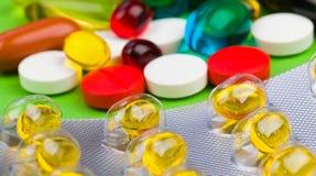 Comprimidos coloridos Foto de Stock Royalty Free