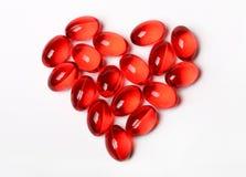 Comprimidos - coração Imagem de Stock Royalty Free