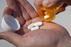 Comprimidos da prescrição Imagens de Stock