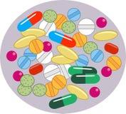 Comprimidos da vitamina ilustração royalty free