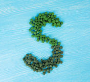 Comprimidos de Spirulina Fotografia de Stock Royalty Free