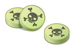 Comprimidos de veneno verdes Imagem de Stock Royalty Free