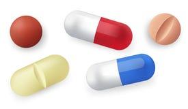 Comprimidos diferentes Foto de Stock