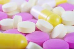 Comprimidos diferentes Fotografia de Stock