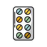 Comprimidos do bloco de bolha ilustração stock