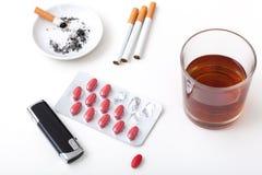 Comprimidos dos cigarros do álcool Imagens de Stock Royalty Free