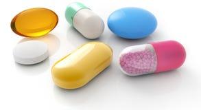 Comprimidos e cápsulas ilustração stock