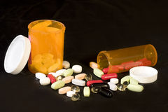 Comprimidos e drogas Fotografia de Stock Royalty Free