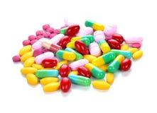 Comprimidos e tabuletas coloridos Imagem de Stock