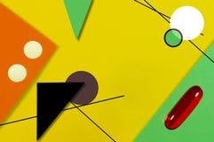 Comprimidos e teste padrão de amarelo e alaranjado verdes fotos de stock royalty free