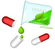 Comprimidos ervais; conceito da medicina alternativa Foto de Stock Royalty Free