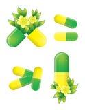 Comprimidos ervais, medicina alternativa Foto de Stock