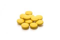 Comprimidos isolados Fotografia de Stock