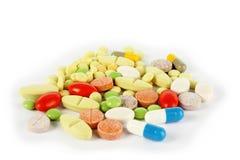 Comprimidos médicos coloridos Foto de Stock