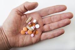 Comprimidos médicos do Close-up Foto de Stock Royalty Free