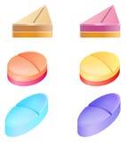 Comprimidos medicinais Fotografia de Stock Royalty Free
