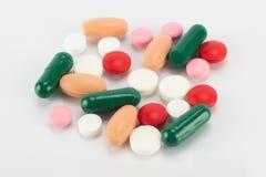 Comprimidos Multicolour Imagem de Stock