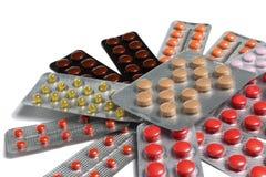 Comprimidos nas bolhas foto de stock royalty free