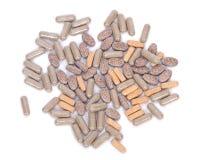 Comprimidos naturais do suplemento à vitamina Fotos de Stock